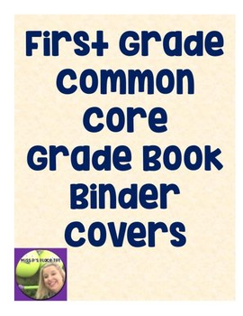First Grade Common Core Binder