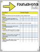 First Grade Common Core Checklist in Arrows