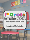 First Grade Common Core Checklist for Teachers – ELA & Math