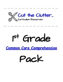 First Grade Common Core Comprehension Practice Pack