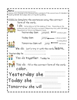 First Grade Common Core Daily Language Standard Practice-March