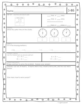 First Grade Common Core Daily Math Review Part 2