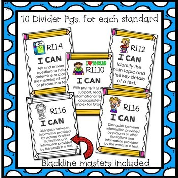 First Grade Common Core ELA Assessments- Reading Informational Text