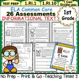 First Grade Common Core ELA Assessments- Reading Informati