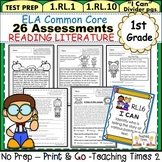 First Grade Common Core ELA Assessments- Reading Literature