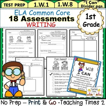 First Grade Common Core ELA Assessments-Writing
