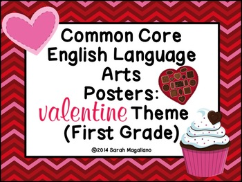 Valentine's Day First Grade Common Core ELA Standards Posters