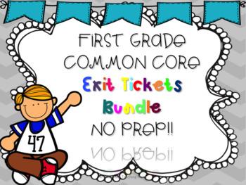 First Grade Common Core Exit Tickets: BUNDLE NO PREP!!
