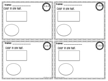 First Grade Common Core Exit Tickets: Geometry NO PREP!