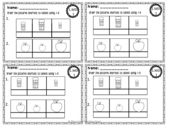 First Grade Common Core Exit Tickets: Measurement NO PREP!!