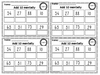 First Grade Common Core Exit Tickets: Numbers & Operations