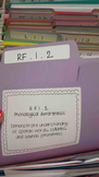 First Grade Common Core File Folder Labels Bundle - Reading, Writing, and Math