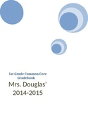 First Grade Common Core Grade Book _editable