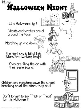 First Grade Common Core Halloween Worksheets by Fun and Learning