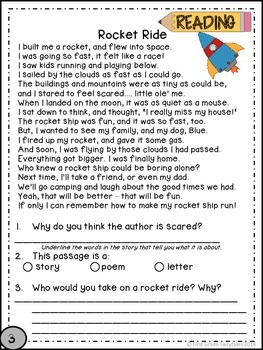 First Grade Common Core Homework - April