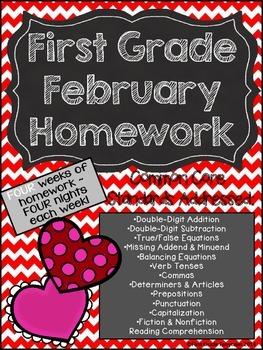 First Grade Common Core Homework - February
