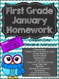 First Grade Common Core Homework - January