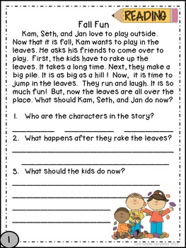 First Grade Common Core Homework - November