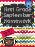First Grade Common Core Homework - September