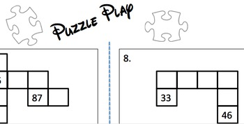 First Grade Common Core Hundred Chart Puzzle Cooperative Learning Math Hundred's