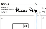 First Grade Common Core Hundred Chart Puzzle Cooperative L