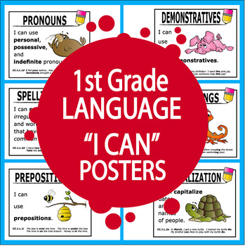 "1st Grade Language ""I Can"" Posters (28 FULL COLOR Posters!)"