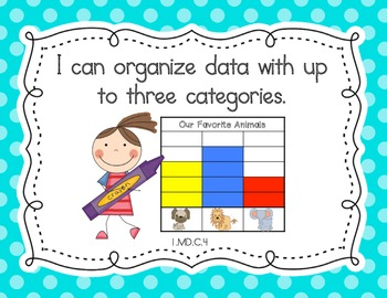 "First Grade Common Core ""I Can"" Posters (Bright Polka Dot)"