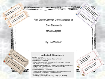 First Grade Common Core I Can Statements