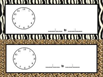 First Grade Common Core I Can Statements ~ Animal Prints
