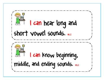 First Grade Common Core Language Arts Standards