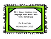 First Grade Common Core Language Arts Word Wall