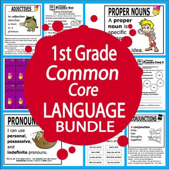 1st Grade Language – Daily Grammar Practice + Common Core ELA Bundle