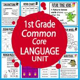 1st Grade LANGUAGE Unit (22 First Grade Grammar Lessons + 2 ELA Games)