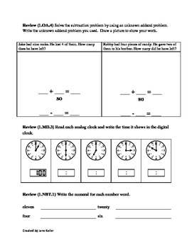 First Grade Common Core Math 1.OA.3, 1.OA.5, 1.OA.6, 1.OA.7