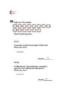 1st Grade Common Core Math ASSESSMENT Form B Mirrors Common Core State Test 1st