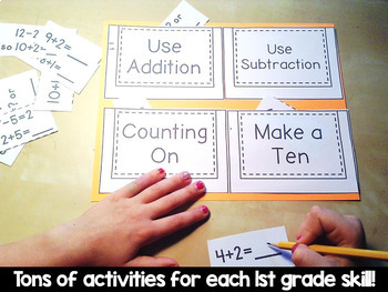 First Grade Math Skills BUNDLE: Activities by the Standards ALL 1st Grade Skills