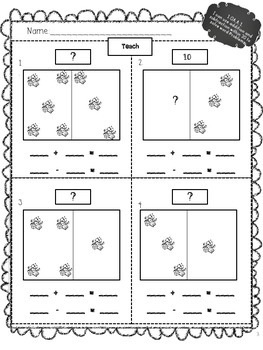 First Grade Common Core Math Activity Packet 1