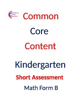 1st Grade Common Core Math Assessment Bundle SHORT Form A and B First Grade