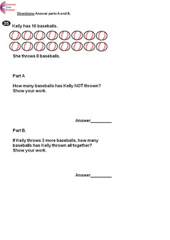 1st Grade Common Core Math Assessment Package 2  Tests Form A and B First Grade