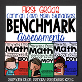 First Grade Common Core Math Assessments- Benchmark Assessment Bundle
