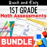 First Grade Common Core Math  Assessments BUNDLE (US and A