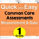 First Grade Common Core Math Assessments- Measurement and Data (US/AUS version)
