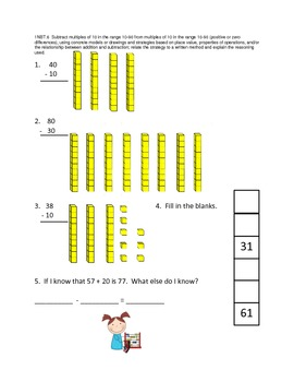 First Grade Common Core Math Assessments - Numbers and Operations in Base Ten