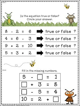 First Grade Common Core Math Beginning & End of Year Assessments