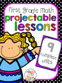 First Grade Common Core Math Complete Series! (Projectable Lessons)