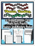 First Grade Common Core Math Facts Practice, Fluency, and Mastery Packet!
