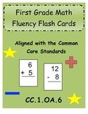First Grade Common Core Math Fluency Flash Cards (CC.1.OA.6)