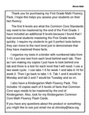 First Grade Common Core Math Fluency Minute Tests (Entire