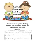 First Grade Common Core Math Journal Questions