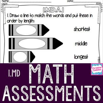 Math Assessments - First Grade Measurement